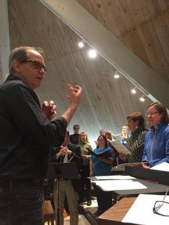 Bob Giere Choir reheasal
