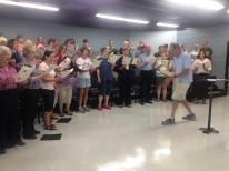 Zumbro Choir rehearsal